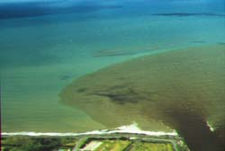 Surface discharge into coastal waters